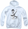 Bruce Lee youth teen hoodie Serenity white