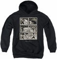 Bruce Lee youth teen hoodie Snap Shots black