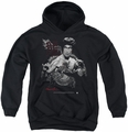 Bruce Lee youth teen hoodie The Dragon black
