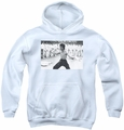Bruce Lee youth teen hoodie Triumphant white