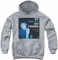 Bruce Lee youth teen hoodie Water athletic heather