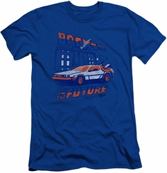 Back to the Future slim-fit t-shirt Ligtning Strikes mens royal