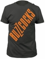 Buzzcocks logo fitted jersey tee charcoal t-shirt pre-order