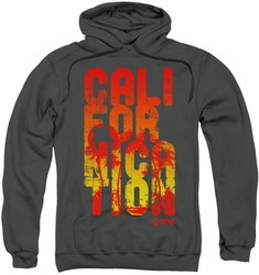 Californication pull-over hoodie Cali Type adult charcoal