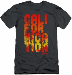 Californication slim-fit t-shirt Cali Type mens charcoal