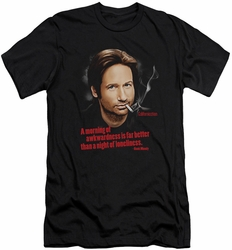 Californication slim-fit t-shirt Morning Night mens black