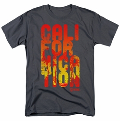 Californication t-shirt Cali Type mens charcoal