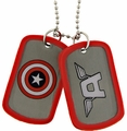 Captain America A Wing double sided Dog Tag