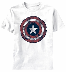 Captain America Battle Shield t-shirt men White