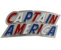 Captain America belt buckle letters