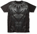 Captain America Civil War Black Panther CW Suit big print subway tee black mens