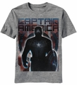 Captain America Done Deal t-shirt men heather grey