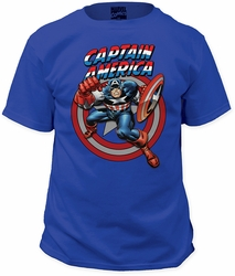 Captain America fist adult royal t-shirt