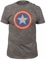 Captain America fitted jersey tee shield mens heather tri-blend  pre-order