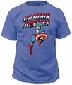 Captain America Red White Blue Adult t-shirt