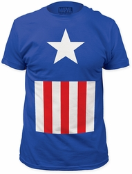 Captain America Suit Mens Fitted Jersey t-shirt