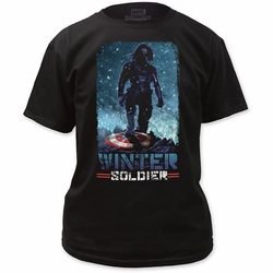 Captain America t-shirt Conquering mens Black