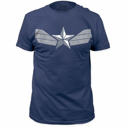 Captain America t-shirt Winter Suit mens Blue