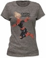Captain Marvel flight fight women's tri-blend tee heather tri-blend t-shirt