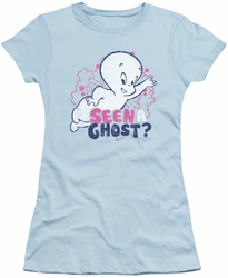 Casper Friendly Ghost juniors sheer t-shirt Seen A Ghost light blue