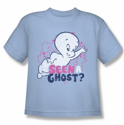 Casper Friendly Ghost youth teen t-shirt Seen A Ghost light blue