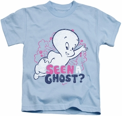 Casper kids t-shirt Seen A Ghost light blue