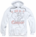 Casper pull-over hoodie Hearts adult white