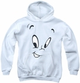 Casper youth teen hoodie Face white