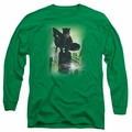 Catwoman adult long-sleeved shirt #63 Cover kelly green