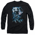 Catwoman adult long-sleeved shirt Moonlight Cat black