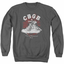 CBGB adult crewneck sweatshirt High Tops charcoal