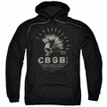 CBGB Punk Music pull-over hoodie Electric Skull adult black