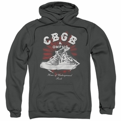 CBGB Punk Music pull-over hoodie High Tops adult charcoal