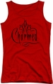 Charmed juniors tank top Charmed Logo red