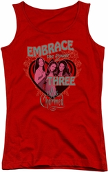 Charmed juniors tank top Embrace The Power red