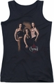 Charmed juniors tank top Three Hot Witches black