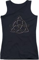 Charmed juniors tank top Triple Linked Logo black