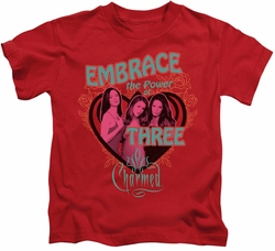 Charmed kids t-shirt Embrace The Power red