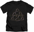 Charmed kids t-shirt Triple Linked Logo black