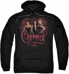 Charmed pull-over hoodie Charmed Girls adult black
