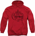 Charmed pull-over hoodie Charmed Logo adult red