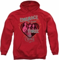 Charmed pull-over hoodie Embrace The Power adult red