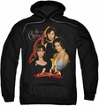Charmed pull-over hoodie Original Three adult black