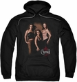 Charmed pull-over hoodie Three Hot Witches adult black