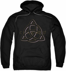 Charmed pull-over hoodie Triple Linked Logo adult black