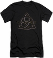 Charmed slim-fit t-shirt Triple Linked Logo mens black