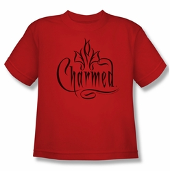 Charmed youth teen t-shirt Charmed Logo red