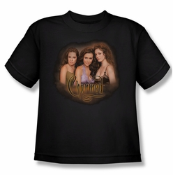 Charmed youth teen t-shirt Smokin black