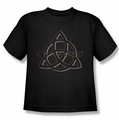 Charmed youth teen t-shirt Triple Linked Logo black
