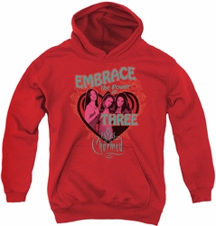 Charmed youth teen hoodie Embrace The Power red